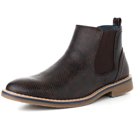 alpine swiss mens nash chelsea boots snakeskin ankle boot genuine leather