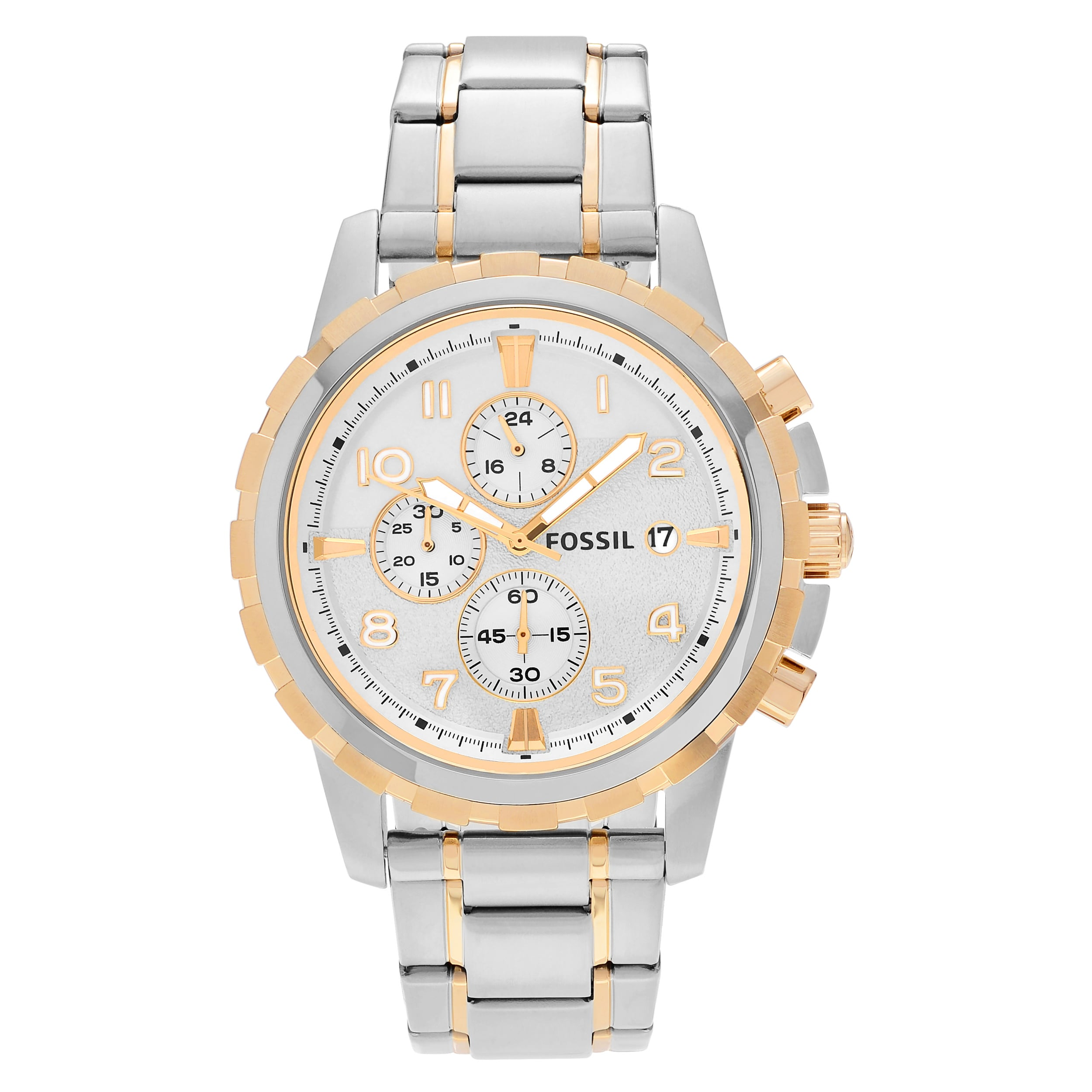 Fossil  Men's FS4795 'Dean' Two Tone Stainless Steel Chro...