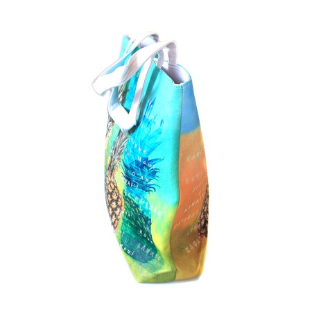 Pineapple Purse (Hawaii Print Tote Bag Shoulder Bag in Pineapples with Island)