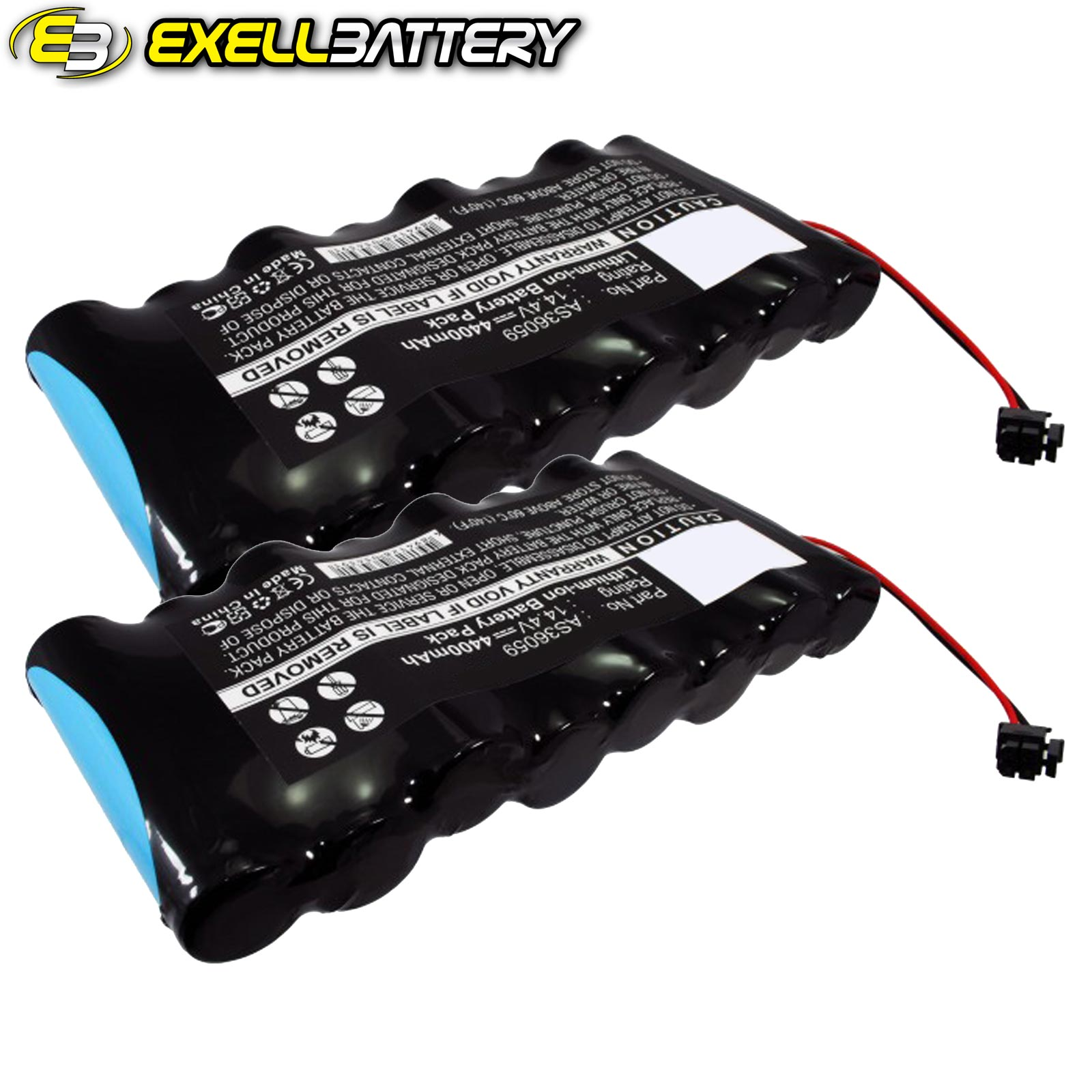 2x 14.4V Medical Batteries For Siemens AS36059 MS14234 MS14490 Fits Draeger by Exell Battery