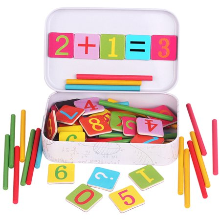 Magnetic Wooden Toys Number Learning Toys Mathematics Number Toys Calculate Game Learning Counting Baby - Math Games 2