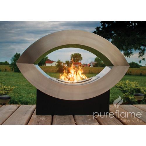 PureFlame Pureflame Stainless Steel Bio-Ethanol Fire Fireplace