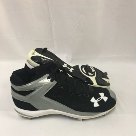NEW Mens Under Armour Yard II 5/8 Pro ST Baseball Cleats Black / Grey Sz 14 M](Baseball Clearance Outlet)