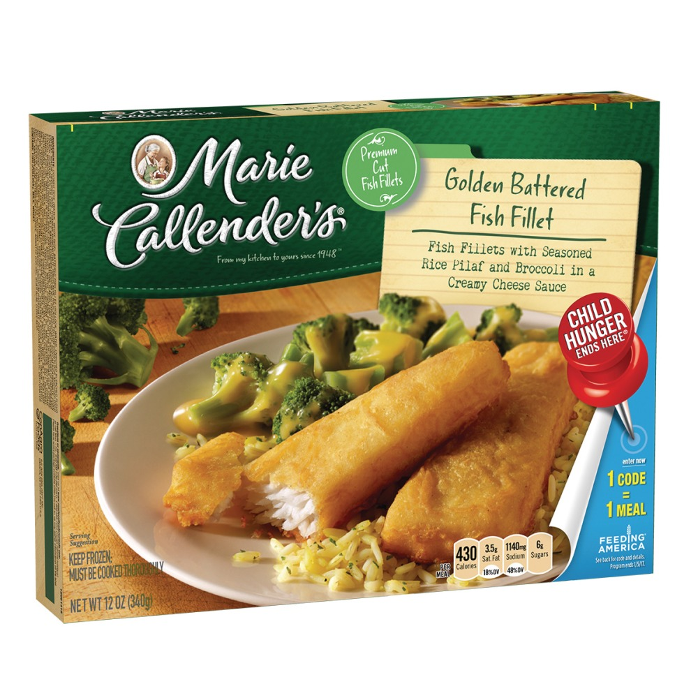 Marie Callender Fish Fillet With Rice Broccoli In Cheese Sauce 12 Oz Walmart Com