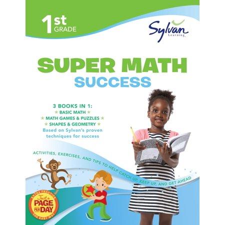 First Grade Super Math Success  Sylvan Super Workb