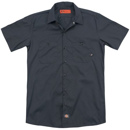 Chevy Charcoal Chevy Bowtie  Back Print  Mens Work Shirt