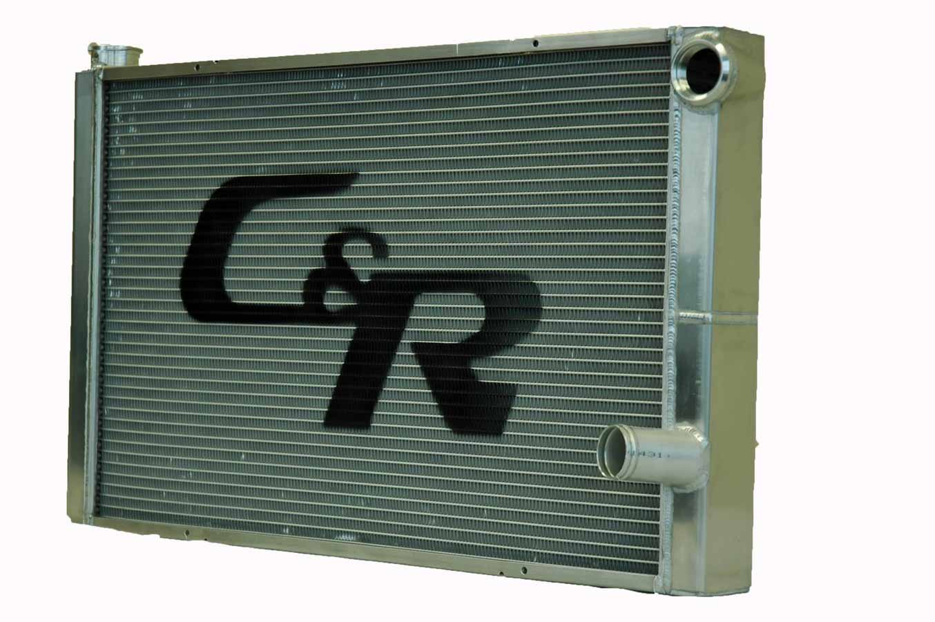 """C AND R 28"""" W x 19"""" H x 1-3 4"""" D Aluminum Dual Pass Radiator P N 802-28191 by C AND R Racing Radiators"""
