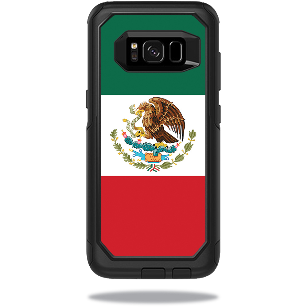 MightySkins Protective Vinyl Skin Decal for OtterBox CommuterSamsung Galaxy S8 Case sticker wrap cover sticker skins Mexican Flag
