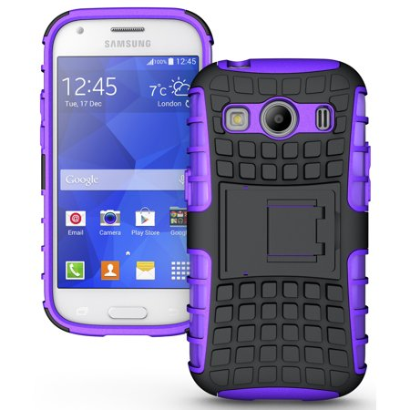 - NAKEDCELLPHONE PURPLE GRENADE GRIP RUGGED TPU SKIN HARD CASE COVER STAND FOR SAMSUNG GALAXY ACE STYLE LTE SM-G357FZ PHONE (aka ACE 4 SM-G357)