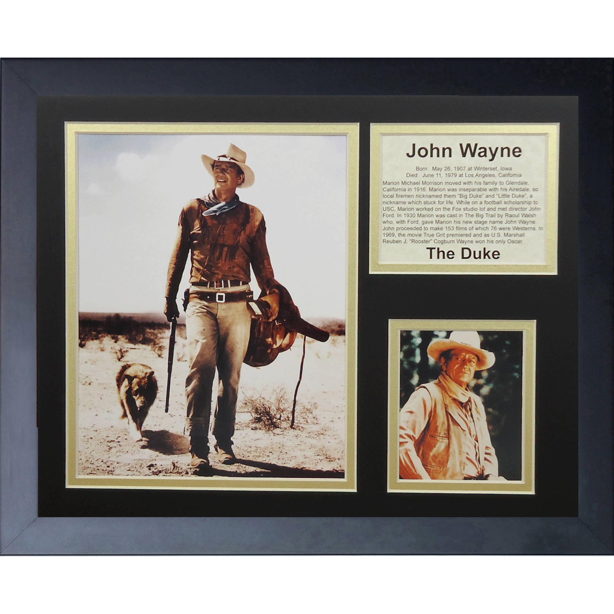 John Wayne Framed Photo Collage, 11x14, by Legends Never Die