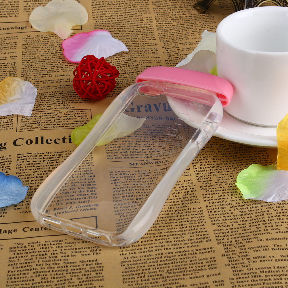 Cute Baby Pacifier Milk Feeding Bottle Shape Soft TPU Clear Case Back Cover For iPhone 7 7plus se 5 5s 6 6s 6plus 6splus