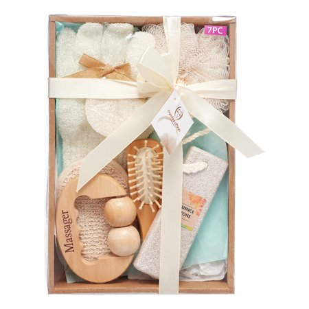 Essential Design Natural Bath Spa Gift Set 7 Pieces Walmartcom