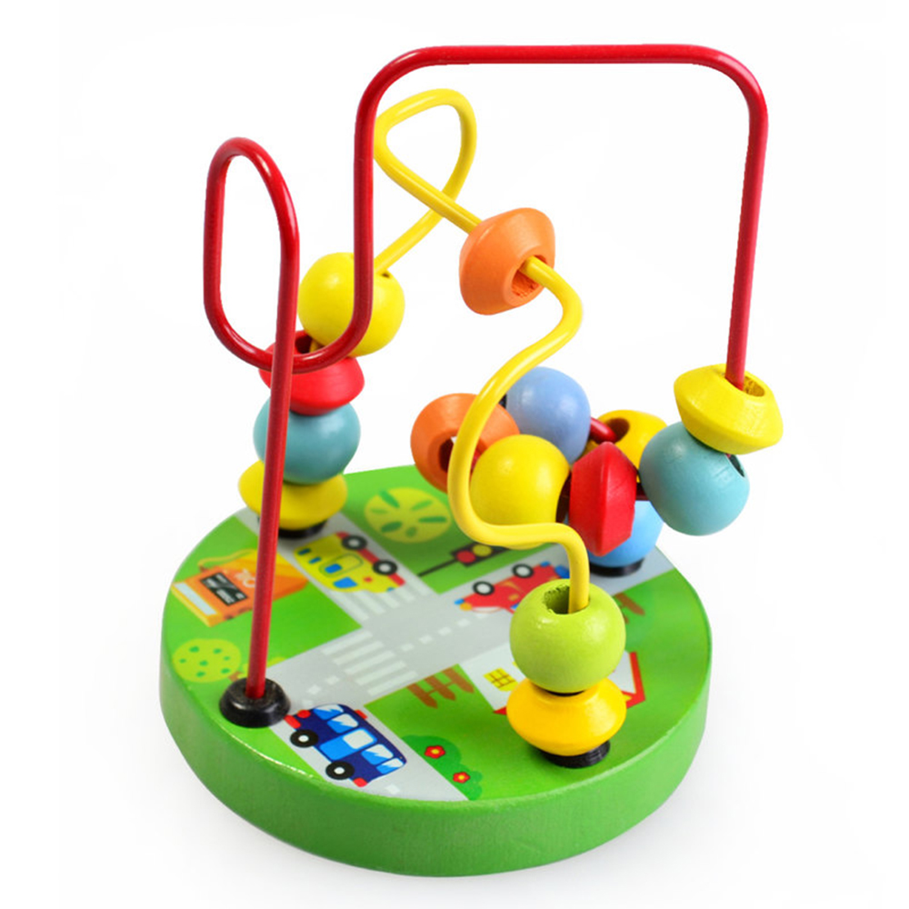 Wooden Bead Maze Roller Coaster Game Classic Educational ...