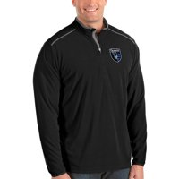 San Jose Earthquakes Antigua Big & Tall Glacier Quarter-Zip Pullover Jacket - Black