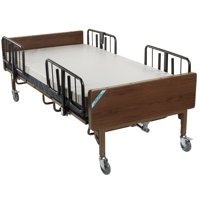 Drive Medical Full Electric Bariatric Hospital Bed with Mattress and 1 Set of T Rails