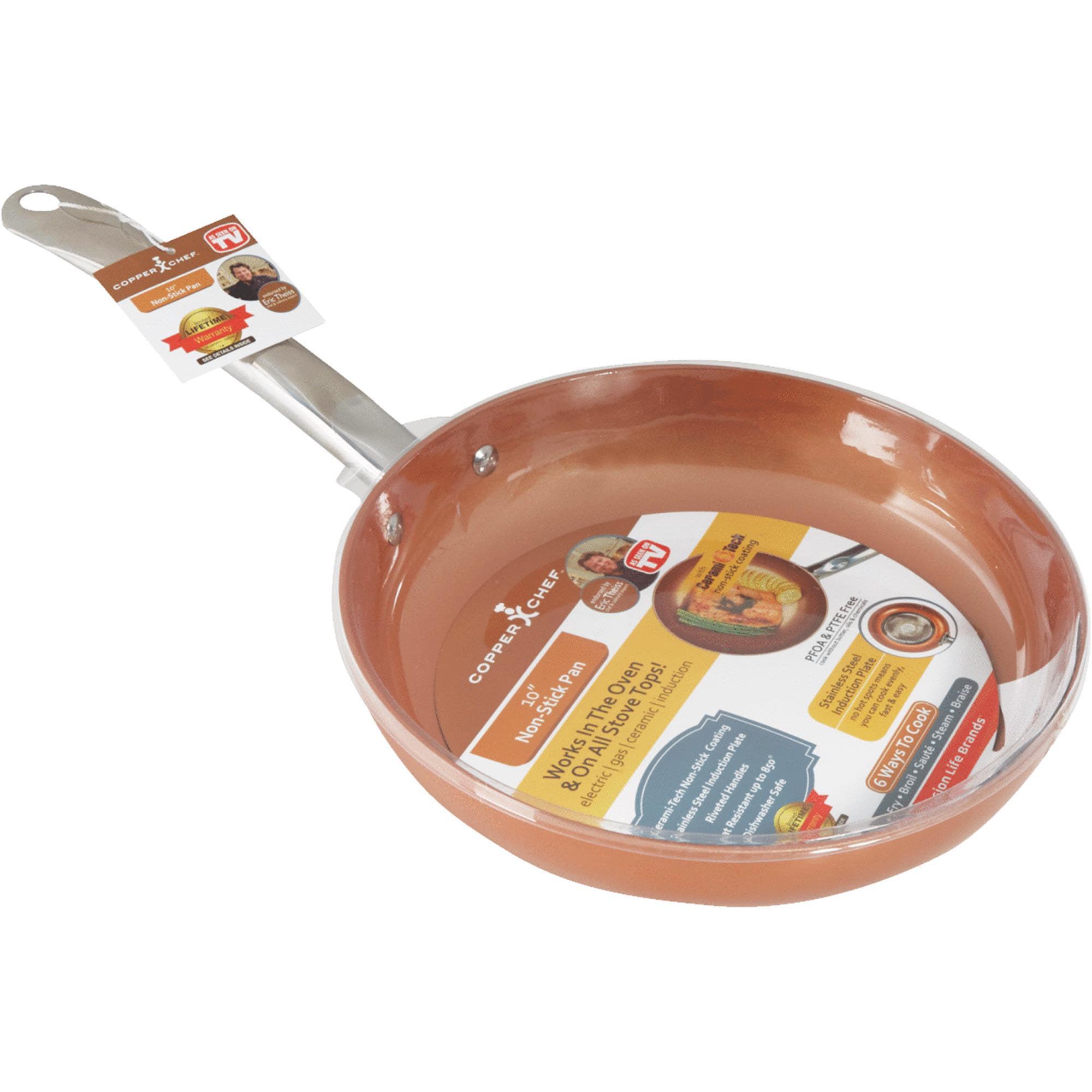 Copper Chef Non Stick Round Fry Pan Walmart Com