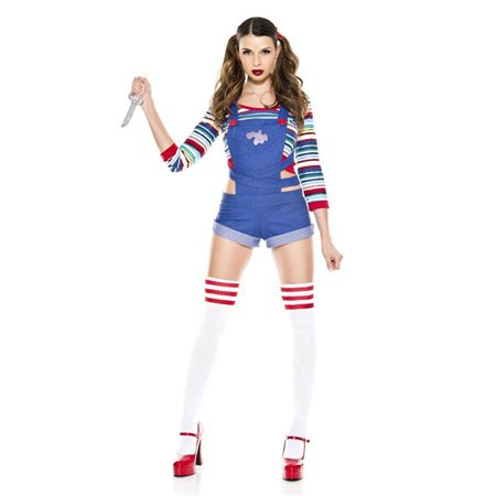 Music Legs 70870-XS 3 Piece Short Overall Romper with Multi-colored Striped Shirt Costume, Extra Small