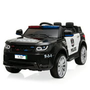 Zimtown Kids Ride On Car Police Electric 12V Battery Toy Car w/RC, 3 Speeds