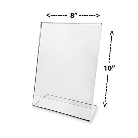 Source One 8 x 10 Inches Slant Back Clear Acrylic Sign Holder Ad ...
