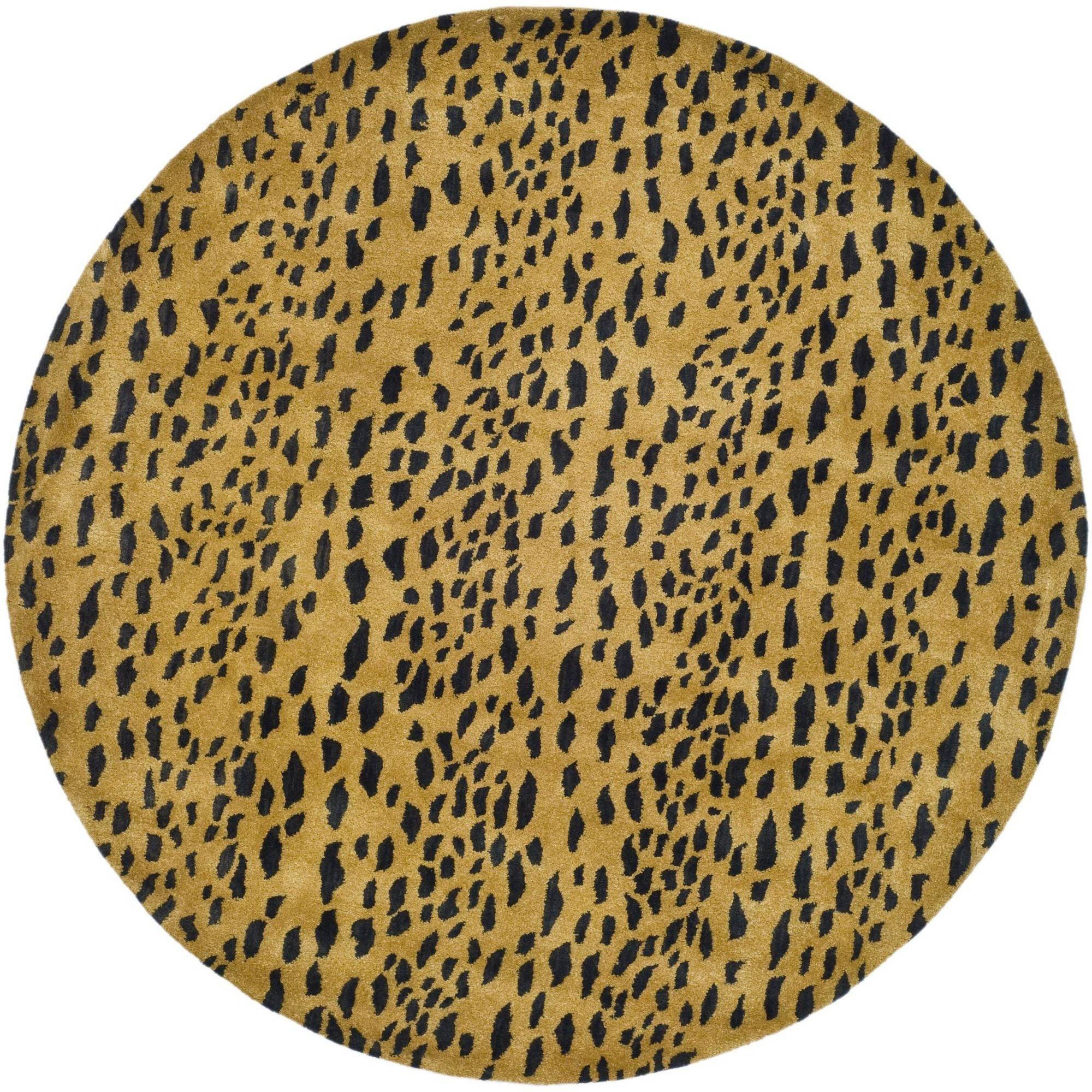 Safavieh Soho Ardi Wool Round Area Rug, Beige/Brown, 6'