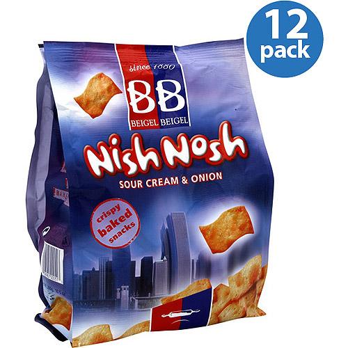 Generic Beigel Beigel Nish Nosh Sour Cream & Onion Crispy Baked Snacks, 10.6 oz, (Pack of 12)