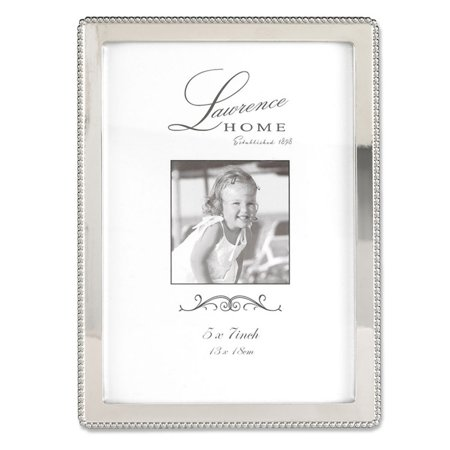Lawrence Frames 5x7 Metal Picture Frame with Outer Border of Beads ...