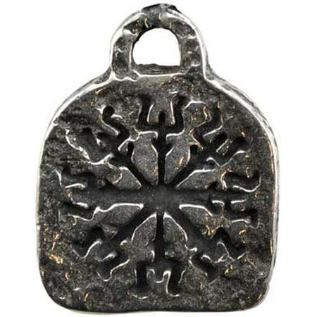 AzureGreen Engraved Rune of Protection Shield Wearer Amulet Talisman Necklace (Protection Talisman Turtle Pendant)