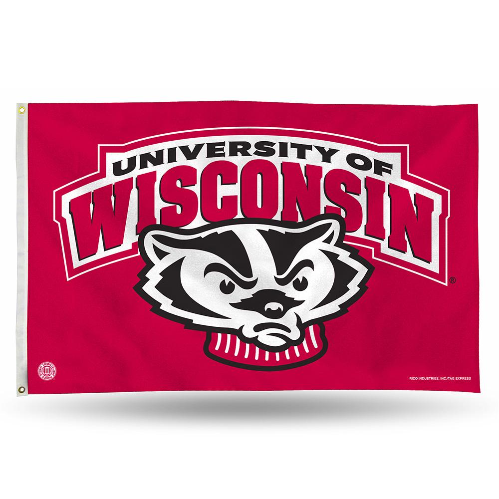 Wisconsin Badgers NCAA 3ft x 5ft Banner Flag (Bucky)