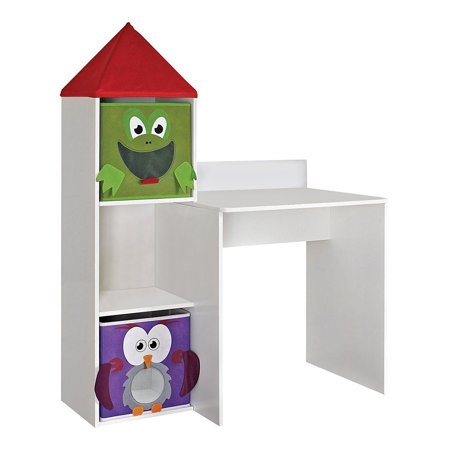 Altra Furniture Kids White Wooden Workstation With 2 Bins - image 1 of 1