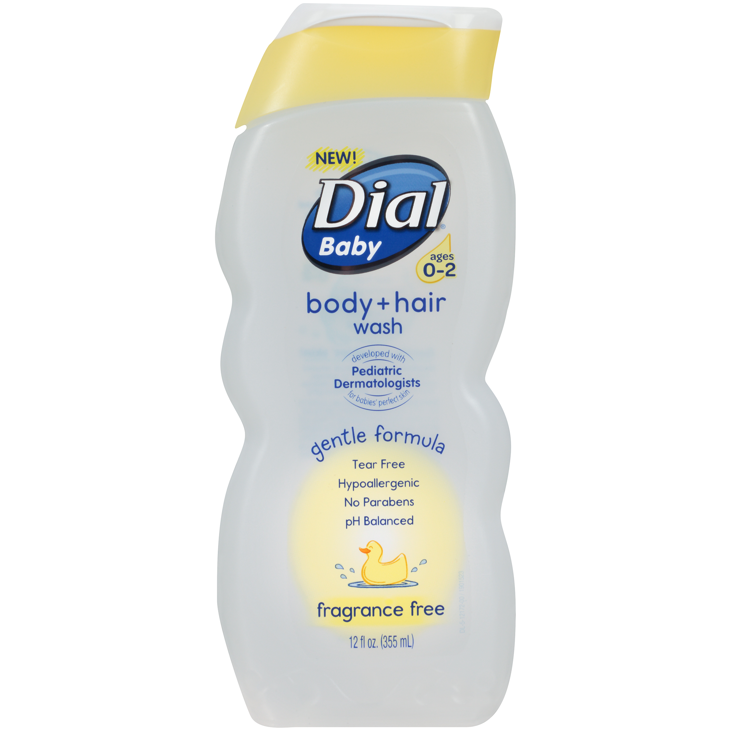 Dial Baby Body Wash, Fragrance Free, 12 Ounce