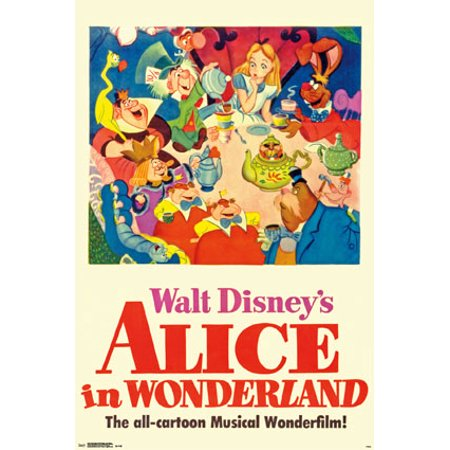 Trends International Alice in Wonderland One Sheet Collector's Edition Wall Poster 24