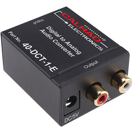 Calrad 40-DCT-1-E Digital to Analog Audio Converter