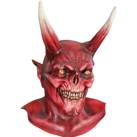 Red Devil Mask Adult Halloween Accessory
