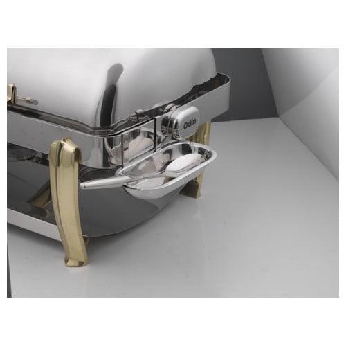 SMART Buffet Ware Oblong Roll Top Detachable Stainless Steel Spoon Holder