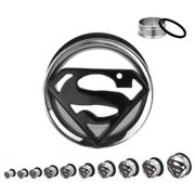DC Comics 316L Surgical Steel Single Flare Plug 2g