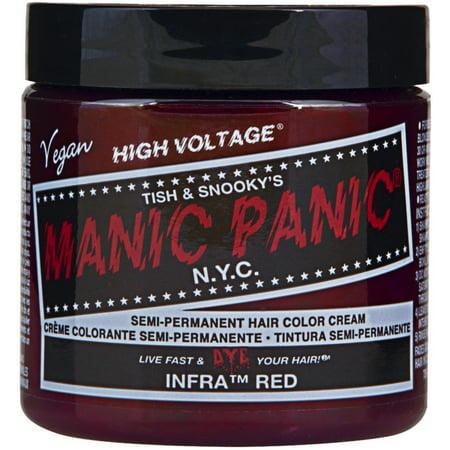 Manic Panic Semi-Permament Hair Color Cream, Infra Red 4