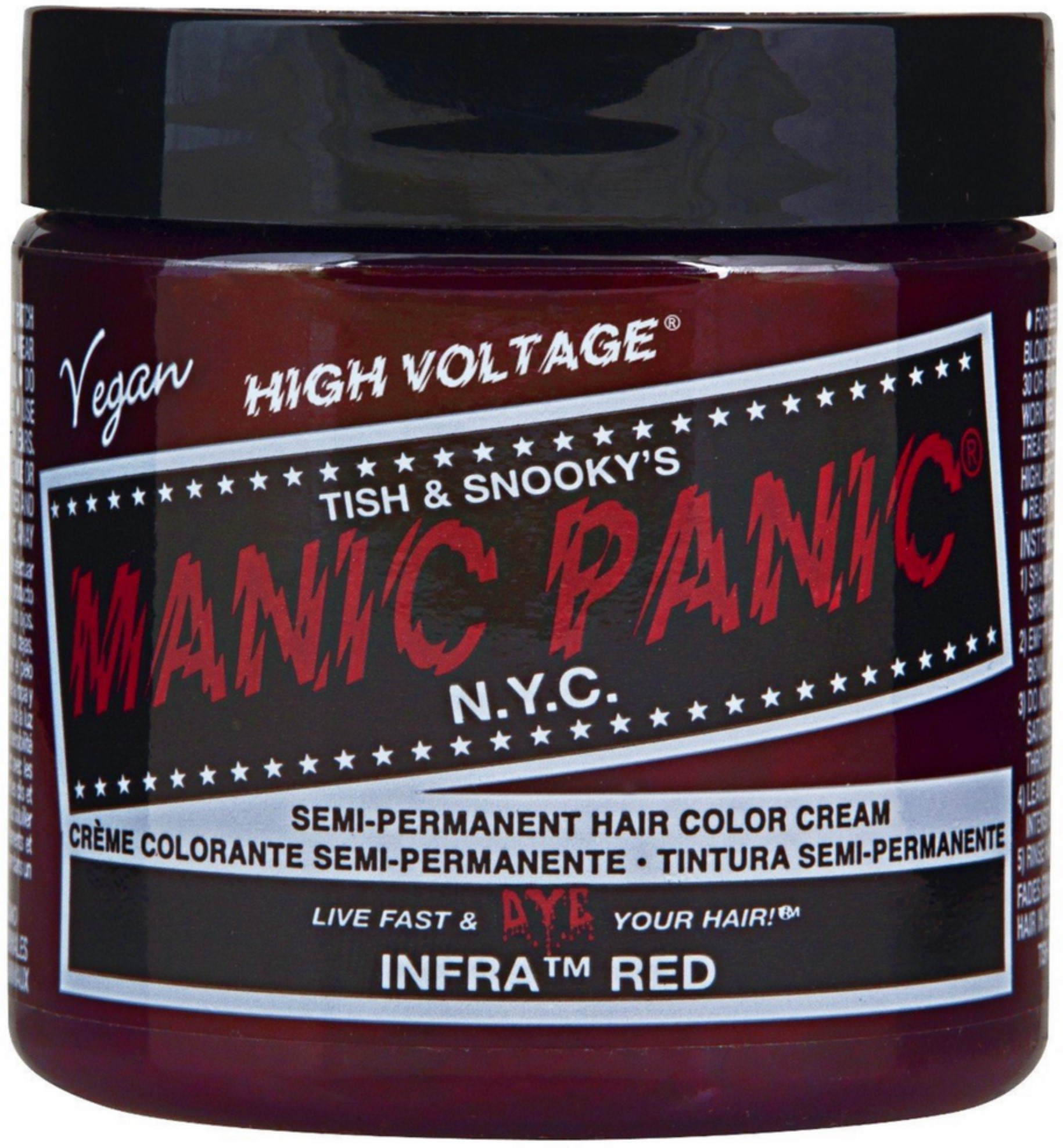 Manic Panic Semi-Permament Hair Color Cream, Infra Red 4 oz