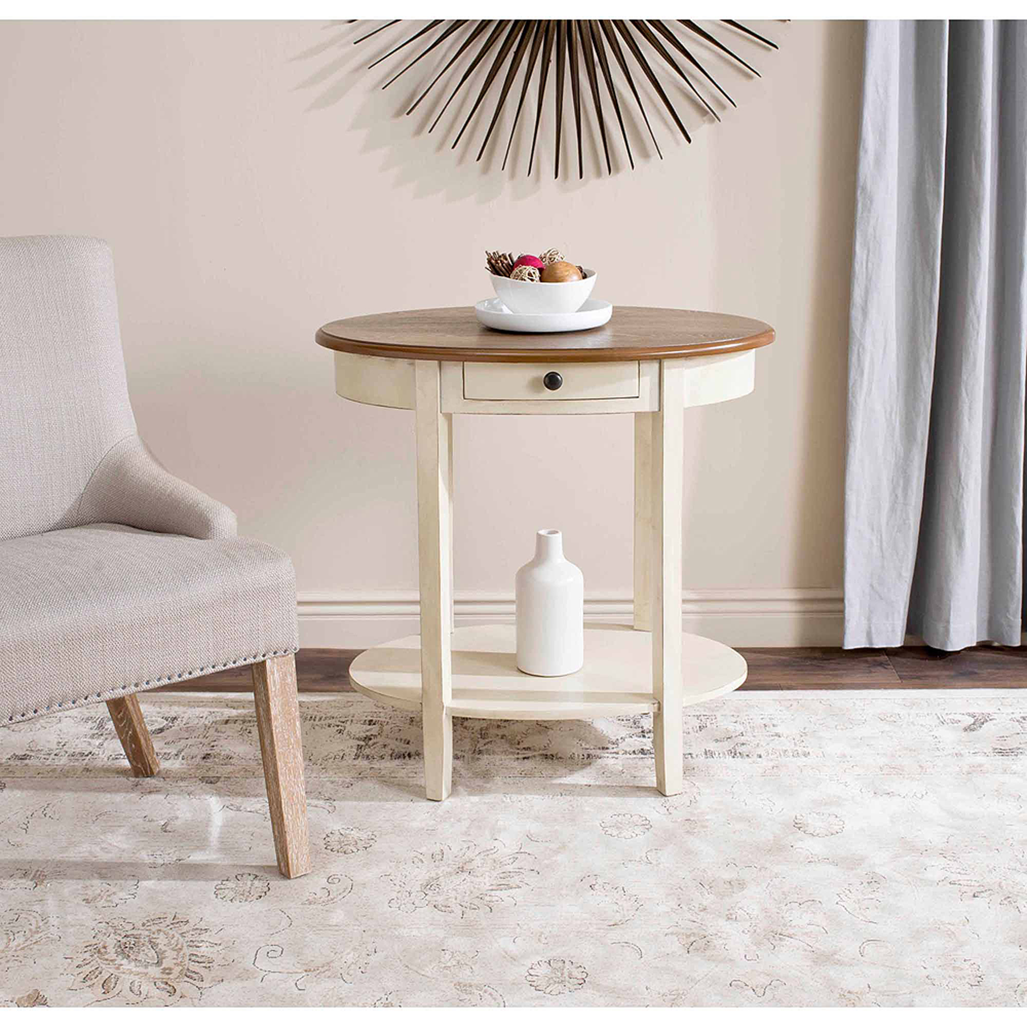 Safavieh Monica Oval End Table, Multiple Colors