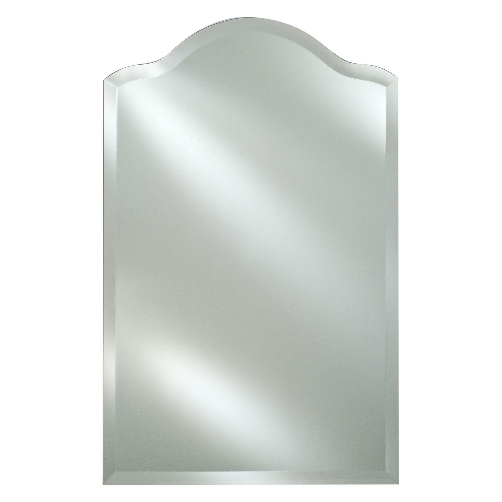 Radiance Frameless Decorative Arch Vanity Wall Mirror
