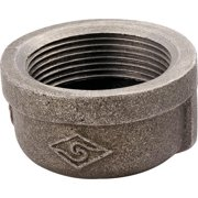 Worldwide Sourcing Pipe Cap 1/2 In Threaded Malleable Iron Black Oxide