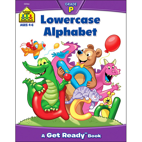 School Zone Preschool Workbooks 32 Pages-Lowercase Alphabet