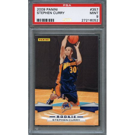 2009 10 Panini 357 Stephen Curry Golden State Warriors Rookie Card Psa 9
