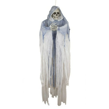 Northlight Seasonal Creepy LED Hooded Skeleton Hanging Halloween - Sinister Halloween Decorations