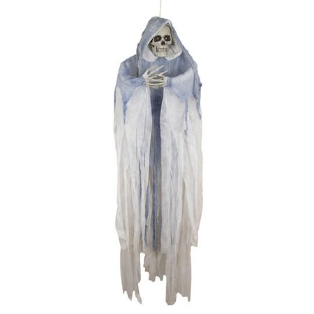 Northlight Seasonal Creepy LED Hooded Skeleton Hanging Halloween Decoration