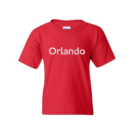 Orlando Unisex Youth Kids T-Shirt Tee Clothing Youth Medium Red