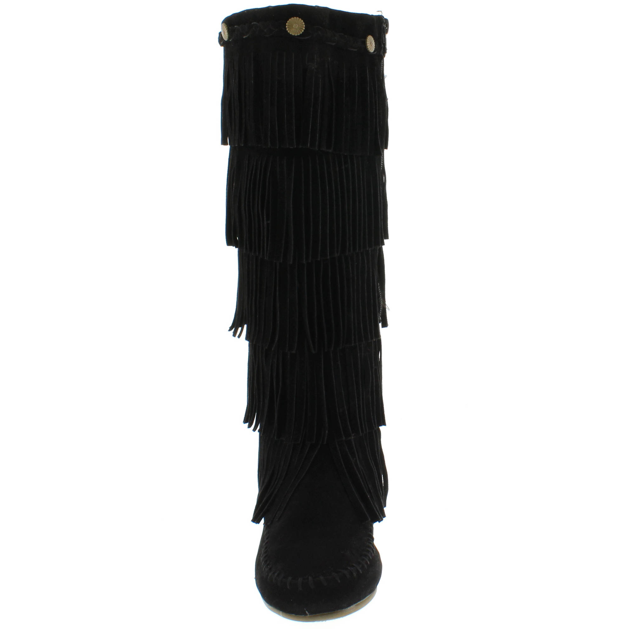 Shoes of Soul Women's Layer Fringe Boots - Walmart.com