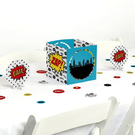 BAM! Superhero - Party Centerpiece & Table Decoration - Superhero Decoration Ideas
