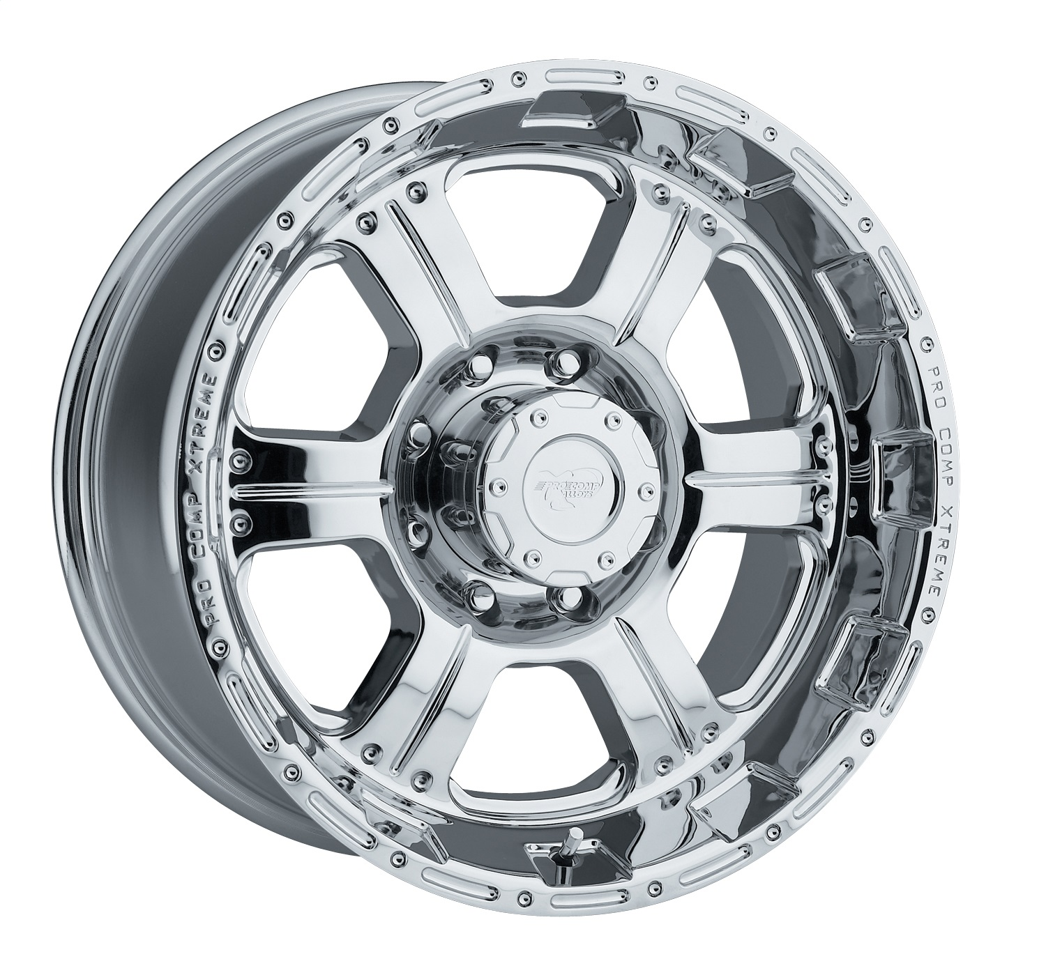 Pro Comp Alloy 6089-7982 Xtreme Alloys Series 6089 Chrome Finish; Size 17x9; Bolt Pattern 8x6.5 in.; Back Space 4.75 in.;