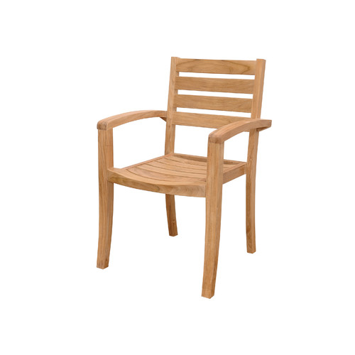 Anderson Teak Catalina Stacking Teak Patio Dining Chairs (Set of 4) by Anderson Collection