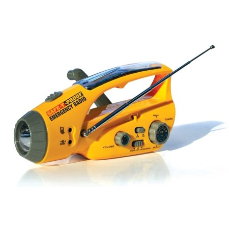 Flashlight No Charger (Safe-T-Proof Solar, Hand-Crank Emergency Radio, Flashlight, Beacon, Cell Phone Charger 1)